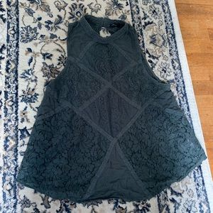 American Eagle Outfitters Lace Keyhole Tank Top
